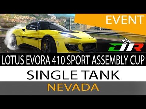 Asphalt 8 - Lotus Evora 410 Sport Assembly Cup - Nevada - 1:03.426 Single Tank ST