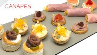 CANAPÉS - Fáciles y rápidos / 5 tipos de canapés fríos