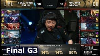 Royal Never Give Up vs Kingzone DragonX | Game 3 Grand Finals LoL MSI 2018 | RNG vs KZ G3