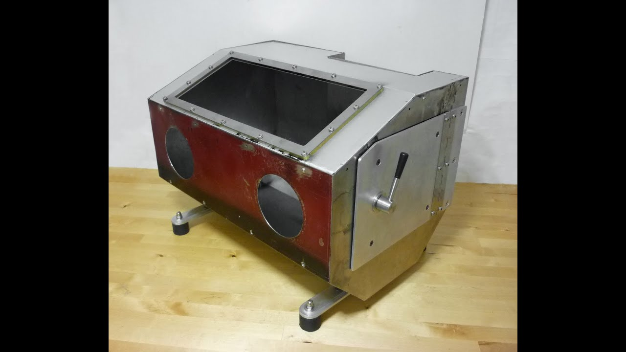Homemade Sandblasting Cabinet With Integrated 25lt