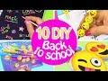 10 DIY SCHOOL SUPPLIES! DIY BACK TO SCHOOL - INNOVA CRAFTS