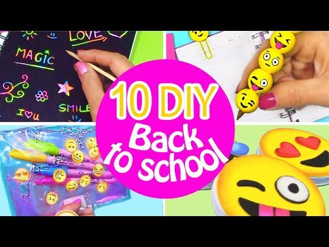 10 DIY SCHOOL SUPPLIES! DIY BACK TO SCHOOL - INNOVA CRAFTS