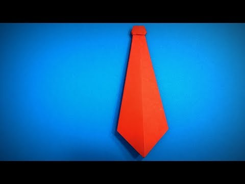 Origami Tie | How to Make a Paper Tie DIY | Easy Origami ART | Paper Crafts