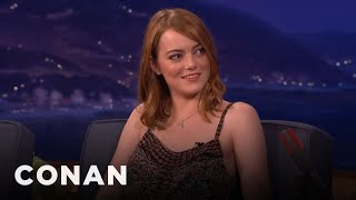 Emma Stone Explained Twitter To Woody Allen  - CONAN on TBS