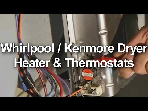 Whirlpool / Kenmore Dryer Heater and Thermostat Test - YouTube on