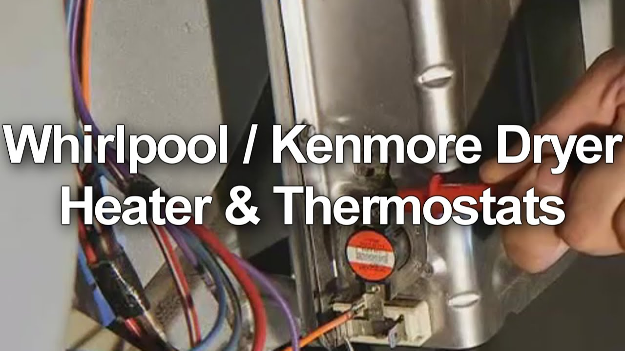 maxresdefault whirlpool kenmore dryer heater and thermostat test youtube kenmore 90 series dryer heating element wiring diagram at soozxer.org