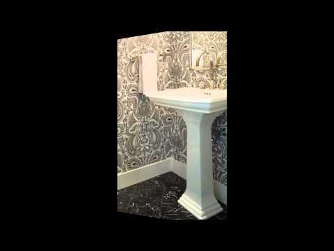 Stunning Wallpaper for powder room decorating ideas