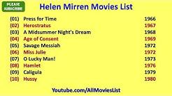 Helen Mirren Movies List