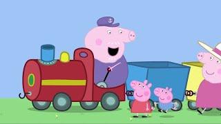 Peppa Pig Português Brasil Viagem de trem | Compilacao de episodios | Desenhos Animados H
