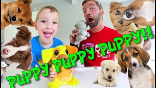 Father & Son Sing THE PUPPIES SONG! / Everything is a Puppy!