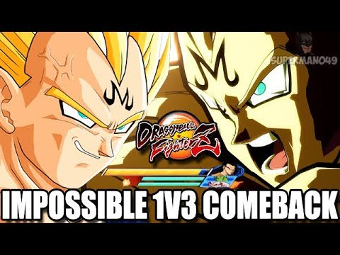 THE MOST AMAZING COMEBACK YOU WILL EVER SEE WITH MAJIN VEGETA! Dragon Ball FighterZ Mods Vegeta