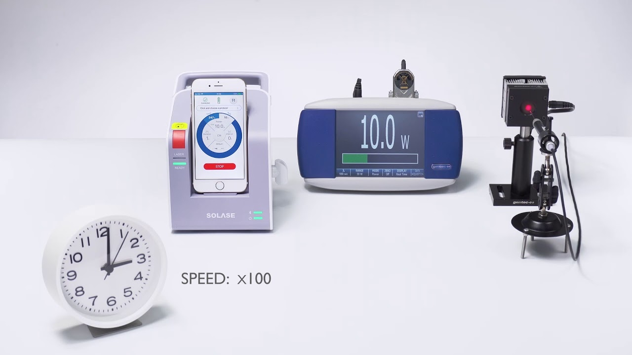 SOLASE Dental Laser - One Hour Power Accuracy & Stability Test