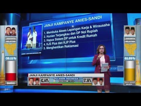 Ini Janji-Janji Kampanye Anies-Sandi Selama Pilkada DKI