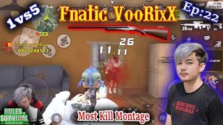 1vs5!!VooRiXx,ROS Fnatic Team,ROS Most Kill Montage,Rules Of Survival,Saxy Gaming|Ep\22