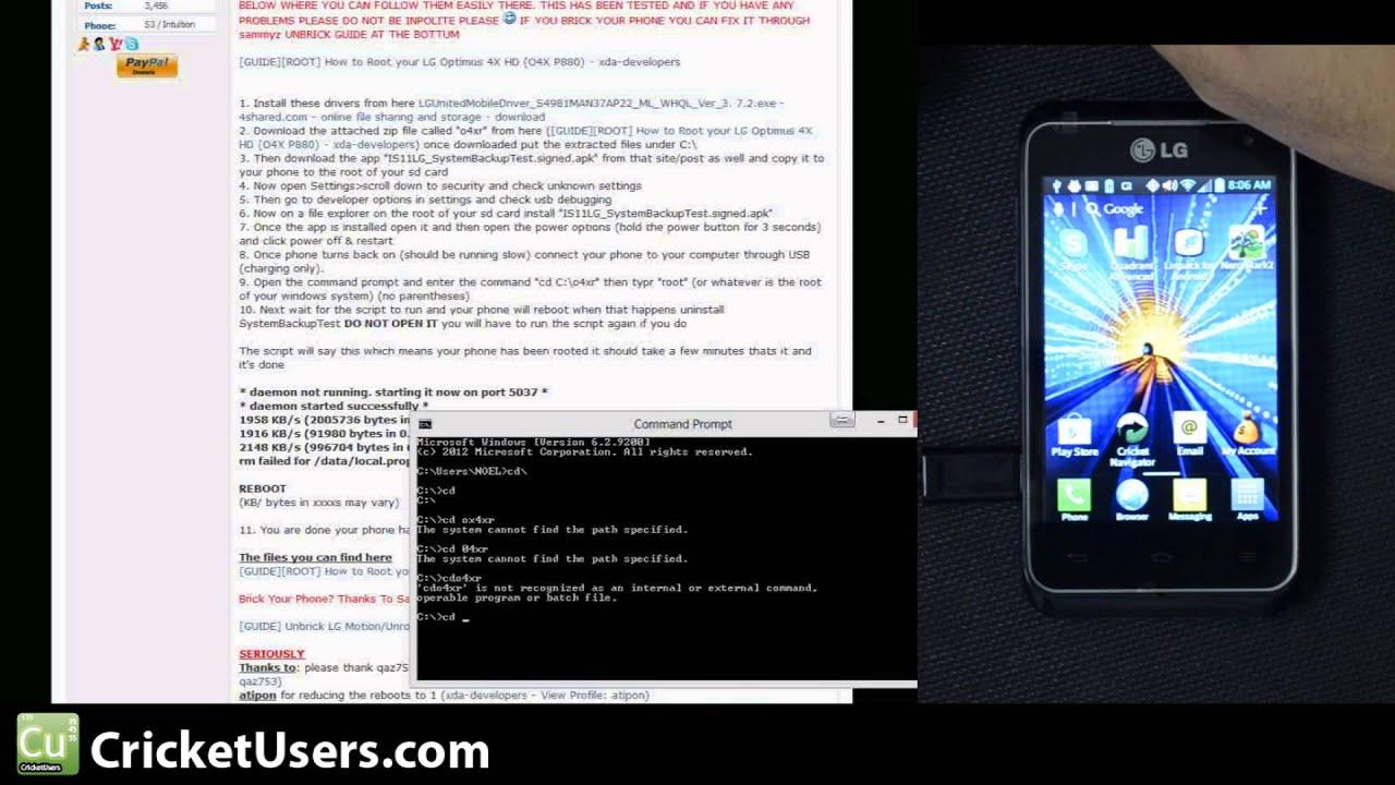 Ho how to hard reboot an lg d321 cricket cell phone - Cricketusers Com Root Cricket Wireless Lg Optimus Regard Root Explorer Titanium Backup