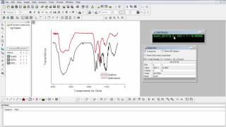 Como identificar pontos num gráfico do Origin (IR)
