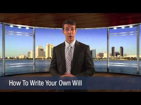 How To Write Your Own Will