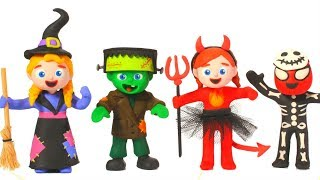 SUPERHERO BABIES AWESOME HALLOWEEN COSTUMES ❤ SUPERHERO PLAY DOH CARTOONS FOR KIDS