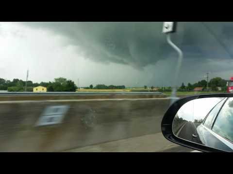 Tromba d'aria in Emilia Romagna. Hurricane in Emilia Romagna