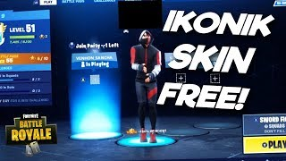 * NEW * FORTNITE HOW TO GET ICONIC FREE SKIN!