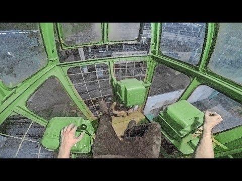 We found a huge working soviet-era machine and drove it