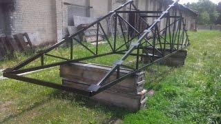 видео Металлическая ферма двухскатная крыша