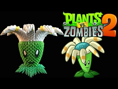 3D Origami bloomerang tutorial from the Plants vs Zombies 2 game