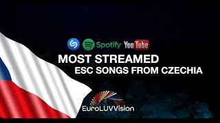 Czech Republic 🇨🇿 in Eurovision TOP 10 Most Streamed Songs : Shazam, YT & Spotify (2007-2021)