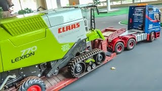 R/C trucks, tractors and machines at work! Heavy transports and more ACTION!