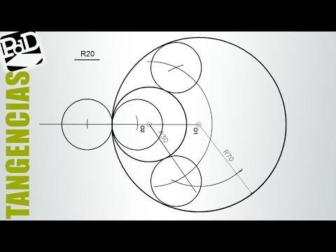 Circunferencias tangentes a otras 2 tangentes interiores conociendo el radio (Tangencias).