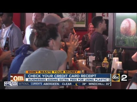 Dont Waste Your Money Credit Card Surcharges
