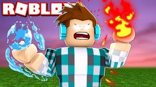 Learn how to HAVE SUPER POWERS of fire and water in ROBLOX!