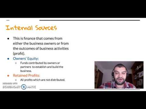 HSC Business Studies Finance: Sources of Finance - Internal and External Equity