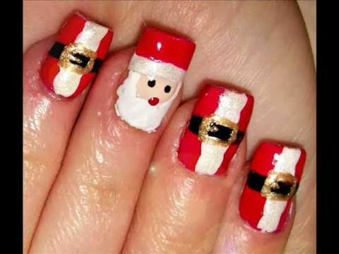 Santa Clause Nails - Santa Clause Nails - YouTube