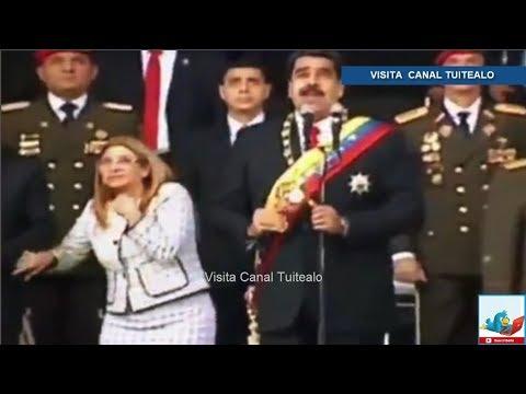Nicolás Maduro es evacuado de emergencia durante un acto oficial en Caracas Venezuela