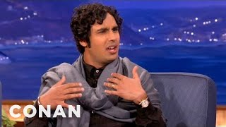 Kunal Nayyar Wants To Be Hairless As An Olympic Swimmer - CONAN on TBS