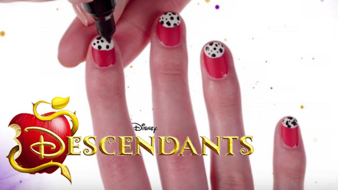 Disney\'s Nail Art - Dalmatiner-Nageldesign von The Descendants ...
