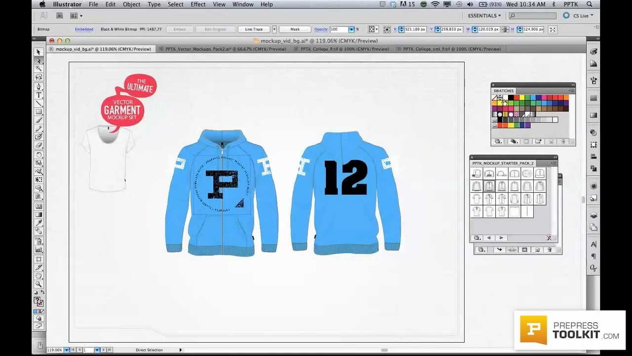 Ultimate Vector Apparel Mockup Template Preview