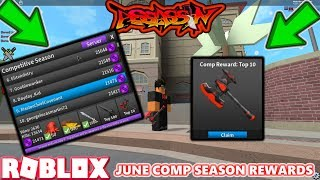 ROBLOX | ASSASSIN: GETTING JUNE COMP SEASON REWARDS (GETTING THE CHAMPION AXE) *REACTIONS*