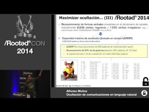 Alfonso Muñoz - Ocultación de comunicaciones en lenguaje natural [Rooted CON 2014]