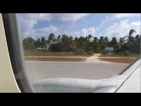 Landung Tarawa, Kiribati (Airport Bonriki)
