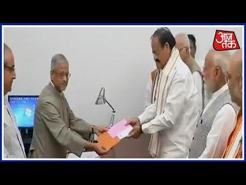 Venkaiah Naidu Files His Nomination For Vice-President
