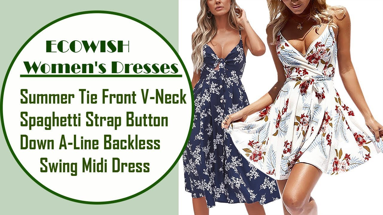 6a5bd9de4ee ECOWISH Womens Dresses Summer