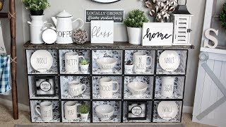DOLLAR TREE BIN HACK ENAMEL DECOR DIY