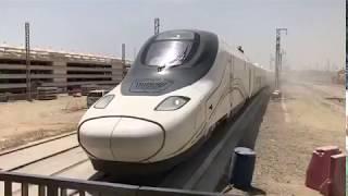 لأول مرة.. قطار الحرمين السريع يصل محطة جدة