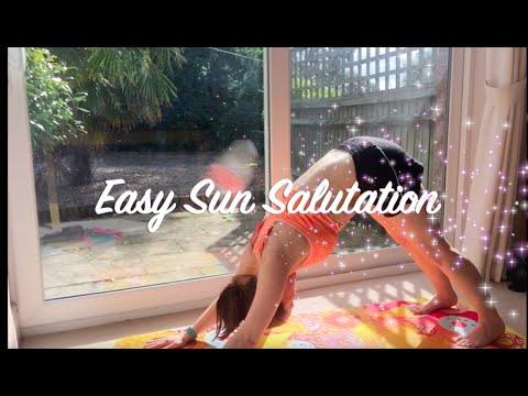 easy sun salutation warm up yoga for beginners surya