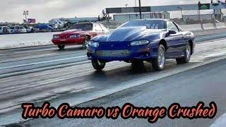 Turbo Camaro vs Orange crushed at Redemption 13 no prep thumbnail
