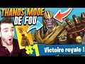 ► THANOS + FORTNITE = MODE DE FOLIE 🔥 Top 1 Gameplay DINGUE !
