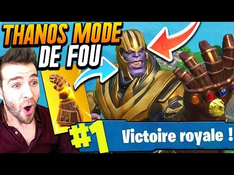 THANOS + FORTNITE = MODE DE FOLIE  Top 1 Gameplay DINGUE !