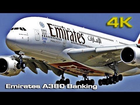 Emirates Airbus A380 (banking) [4K]